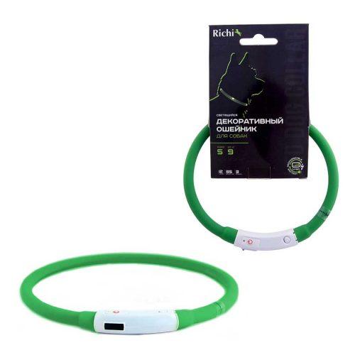 Ошейник-силиконовый-зеленый--3501,3511,3521